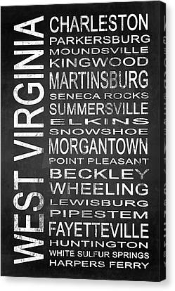 Subway West Virginia State 1 Canvas Print by Melissa Smith