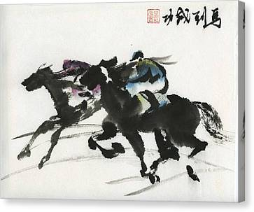 Canvas Print featuring the painting Success by Ping Yan