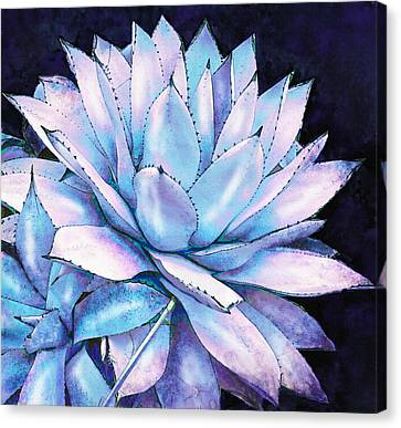 Succulent In Blue And Purple Canvas Print by Jane Schnetlage