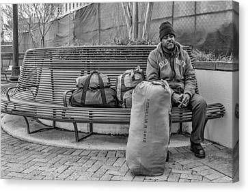 Such A Long Journey Bw Canvas Print