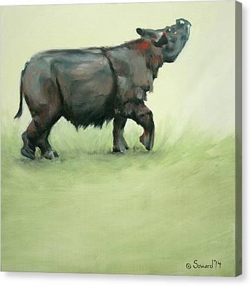 Suci Sumatran Rhino Canvas Print