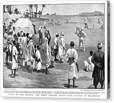 Sudan Cricket, 1899 Canvas Print
