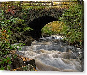 New England Autumn Canvas Print - Sudbury River by Juergen Roth