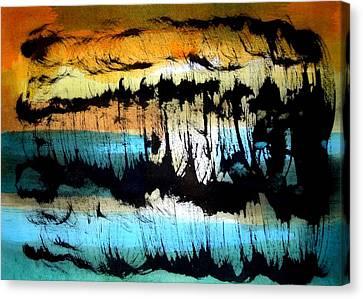 Sudden Rain-shower At The Sea  Canvas Print by Aquira Kusume
