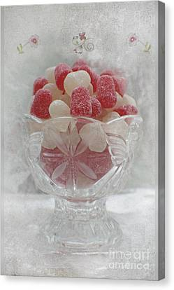Sugar And Spice Love Red And White Canvas Print