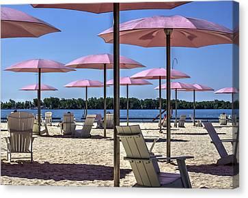 Sugar Beach Summer Canvas Print
