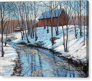Sugar Brook Canvas Print by Gerard Natale