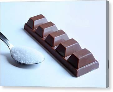 Sugar In Chocolate Canvas Print by Cordelia Molloy