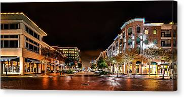 Sugar Land Town Square Canvas Print by David Morefield