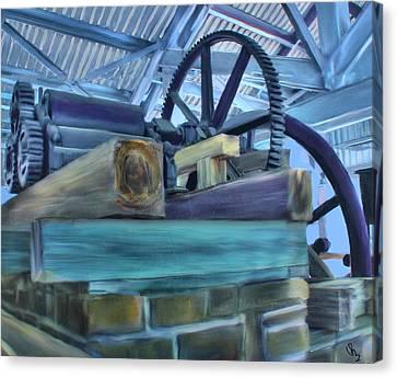 Ruin Canvas Print - Sugar Mill Gizmo by Deborah Boyd