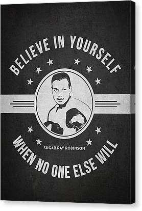 Boxer Canvas Print - Sugar Ray Robinson - Dark by Aged Pixel