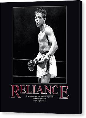 Sugar Ray Robinson Reliance Canvas Print by Retro Images Archive
