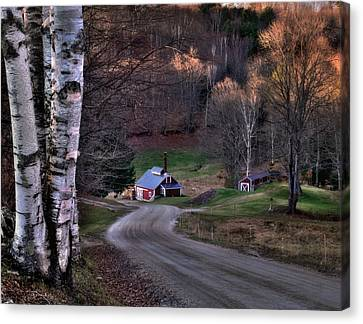 Sugar Shack - Reading Vermont Canvas Print by Thomas Schoeller
