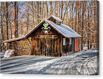 Sugar Shack - Southbury Connecticut Canvas Print by Thomas Schoeller