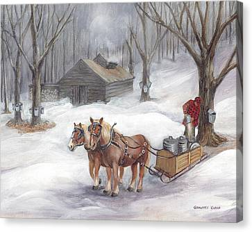 Sugaring Time Again Canvas Print by Gregory Karas