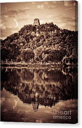 Canvas Print featuring the photograph Sugarloaf Reflection by Kari Yearous