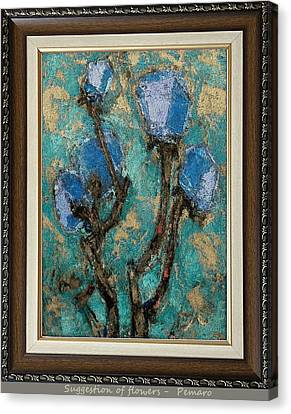 suggestion of flowers digital processing  SOFDP2 Canvas Print by Pemaro