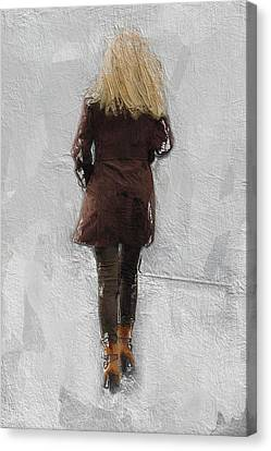Suicide Blonde Canvas Print