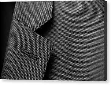 Suit Texture Canvas Print by Mike Taylor