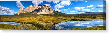 Sukakpak Reflection Canvas Print by Chad Dutson