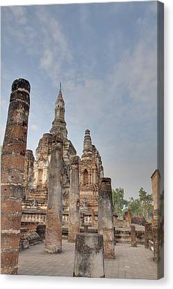 Ancient Canvas Print - Sukhothai Historical Park - Sukhothai Thailand - 011324 by DC Photographer