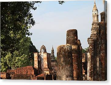 Historical Canvas Print - Sukhothai Historical Park - Sukhothai Thailand - 011335 by DC Photographer
