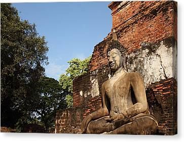 Ancient Canvas Print - Sukhothai Historical Park - Sukhothai Thailand - 011346 by DC Photographer