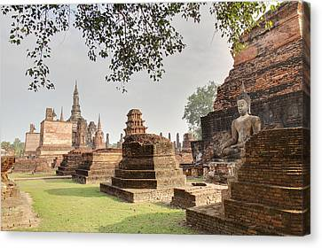 Ancient Canvas Print - Sukhothai Historical Park - Sukhothai Thailand - 01135 by DC Photographer