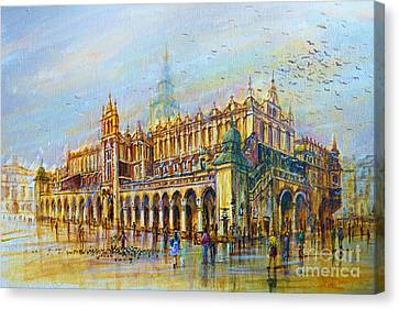 Sukiennice In Cracow Canvas Print