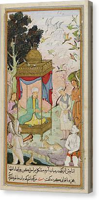 Sulayman With Animals Canvas Print by British Library
