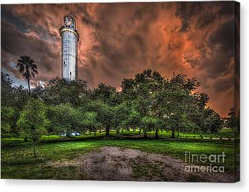 Sulfur Springs Tower Canvas Print by Marvin Spates