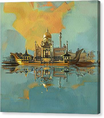 Sultan Omar Ali Saifuddin Mosque Canvas Print by Corporate Art Task Force