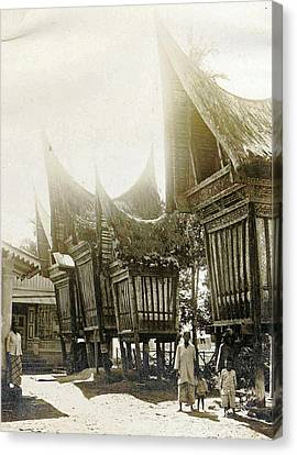 Sumatra Indonesia, Pastry Sheds, Anonymous Canvas Print