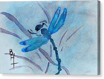 Sumi Dragonfly Canvas Print