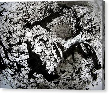 Sumi-e 130422-1 Canvas Print by Aquira Kusume