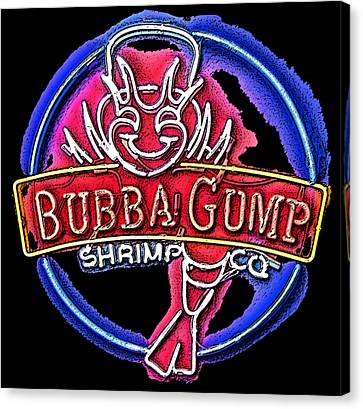Sumi-e Bubba Gump Sign Canvas Print by Marian Bell