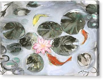 Sumie No.12 Triple Koi Canvas Print