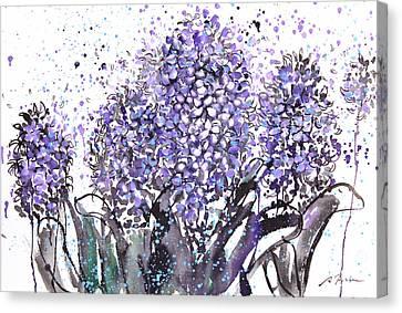 Sumie No.13 Hyacinth Canvas Print