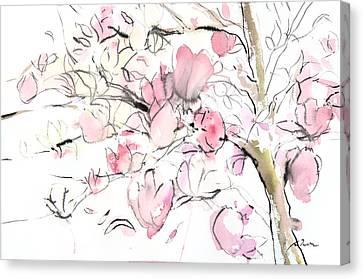 Sumie No.14 Magnolia Canvas Print