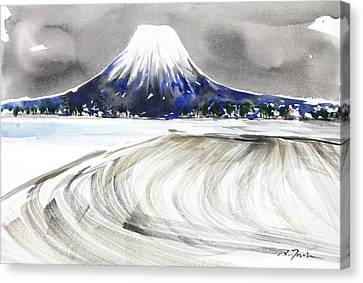 Sumie No.17 Mt.youtei In Hokkaido Japan Canvas Print by Sumiyo Toribe