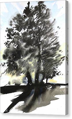 Sumie No.9 Trees Canvas Print by Sumiyo Toribe