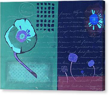 Summer 2014 - Blue01a Canvas Print by Variance Collections