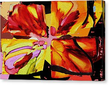 Summer Abstract Canvas Print by Kathy Bassett
