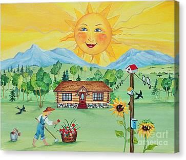 Summer Afternoon Canvas Print by Virginia Ann Hemingson