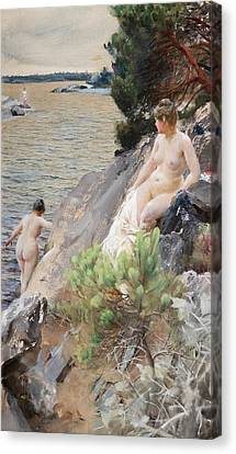 Summer Canvas Print by Anders Zorn