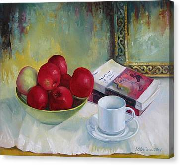 Summer Apples Canvas Print by Elena Oleniuc