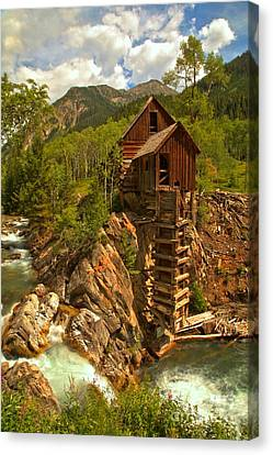 Crystal Colorado Canvas Print - Summer At Crystal Mill by Adam Jewell