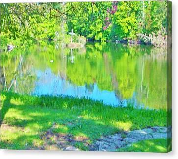 Summer At The Lake Canvas Print