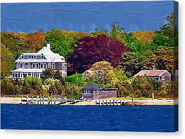 Summer At The Shore Canvas Print by Kirt Tisdale