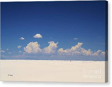 Summer At White Sands National Monument Canvas Print by Roena King
